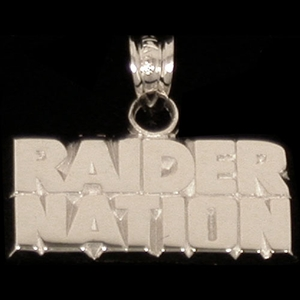 Oakland Raiders Raider Nation Charm - Click to enlarge