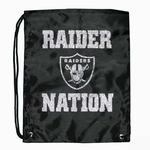 Raiders Raider Nation Glitter Drawstring Bag