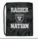 Oakland Raiders Raider Nation Glitter Drawstring Bag