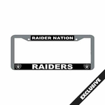 Oakland Raiders Raider Nation License Plate Frame