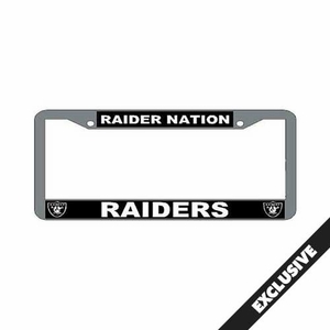 Oakland Raiders Raider Nation License Plate Frame - Click to enlarge