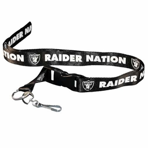 Oakland Raiders Raider Nation Nylon Lanyard - Click to enlarge
