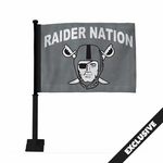 Oakland Raiders Raider Nation Pirate Logo Car Flag