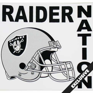 Oakland Raiders Raider Nation Static Cling - Click to enlarge