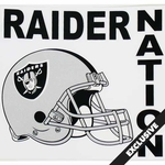 Oakland Raiders Raider Nation Static Cling