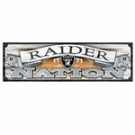 Oakland Raiders Raider Nation Wood Sign