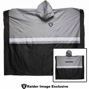 Oakland Raiders Rain Poncho - Click to enlarge