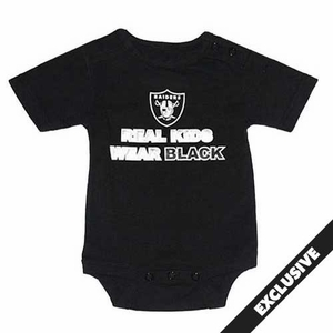 Oakland Raiders Real Kids Wear Black Bodysuit - Click to enlarge