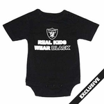 Oakland Raiders Real Kids Wear Black Bodysuit