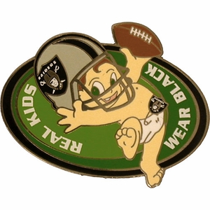 Oakland Raiders Real Kids Wear Black Lapel Pin - Click to enlarge