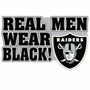 Oakland Raiders Real Men Logo Pin - Click to enlarge