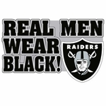 Oakland Raiders Real Men Logo Pin