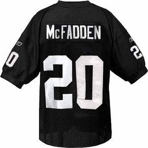 Oakland Raiders Reebok Darren McFadden Authentic Black Jersey - Click to enlarge