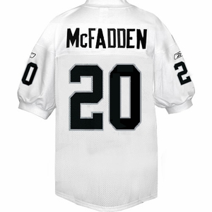 Oakland Raiders Reebok Darren McFadden Authentic White Jersey - Click to enlarge