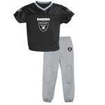 Oakland Raiders Reebok Infant Short Sleeve Jersey Pant Set