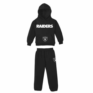 Oakland Raiders Reebok Toddler Hood and Pant Set - Click to enlarge