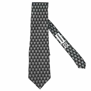 Oakland Raiders Repeat Logo Silk Tie - Click to enlarge