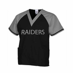 Oakland Raiders Replica Scrub Top