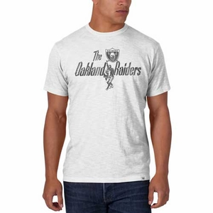 Oakland Raiders Retro White Scrum Tee - Click to enlarge