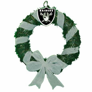 Oakland Raiders Ribbon Door Wreath - Click to enlarge