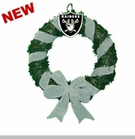 Oakland Raiders Ribbon Door Wreath