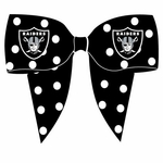 Oakland Raiders Ribbon Hair Clip