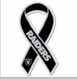 Oakland Raiders Ribbon Magnet