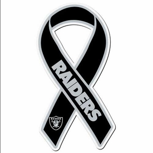 Oakland Raiders Ribbon Magnet - Click to enlarge