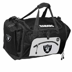 Oakland Raiders Roadblock Duffle Bag - Click to enlarge