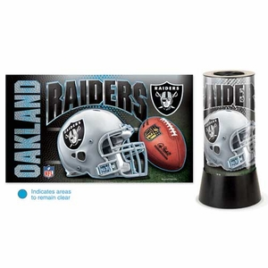 Oakland Raiders Rotating Lamp - Click to enlarge