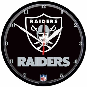 Oakland Raiders Round Shield Logo Clock - Click to enlarge