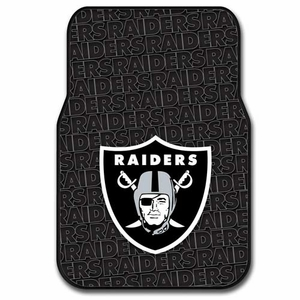 Oakland Raiders Rubber Floor Mats - Click to enlarge