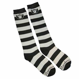 Oakland Raiders Rugby Stripe Sock 9-11 - Click to enlarge
