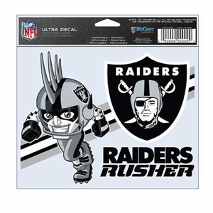 Oakland Raiders Rusher 5 x 6 Ultra Decal - Click to enlarge
