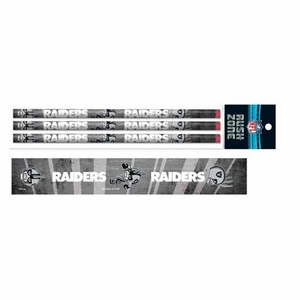 Oakland Raiders Rusher Three Pack Pencil Set - Click to enlarge
