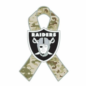 Oakland Raiders Salute To Service Lapel Pin - Click to enlarge