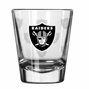 Oakland Raiders Satin Etch Shot Glass - Click to enlarge