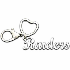Oakland Raiders Script Keychain - Click to enlarge