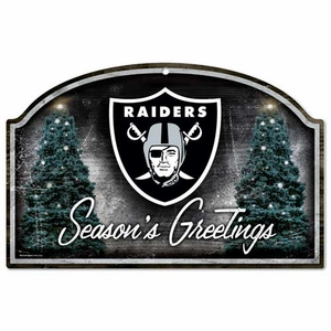 Oakland Raiders Season's Greetings Sign - Click to enlarge