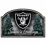 Oakland Raiders Season's Greetings Sign