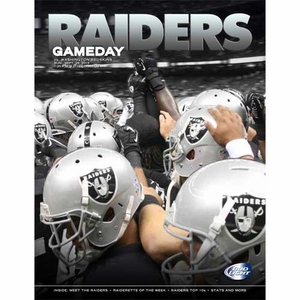 Oakland Raiders September 29th Game Day Program vs. Washington Redskins - Click to enlarge