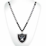 Oakland Raiders Shield Logo Beads