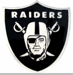 Oakland Raiders Shield Logo Belt Buckle