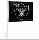 Oakland Raiders Shield Logo Car Flag