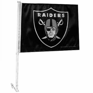 Oakland Raiders Shield Logo Car Flag - Click to enlarge