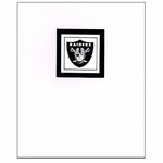 Oakland Raiders Shield Logo Card with White Background