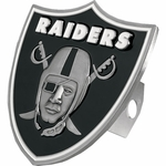 Oakland Raiders Shield Logo Hitch Cover