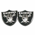 Oakland Raiders Shield Logo Post Earrings