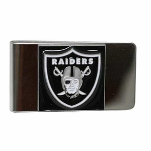 Oakland Raiders Shield Pewter Money Clip - Click to enlarge