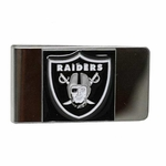 Oakland Raiders Shield Pewter Money Clip